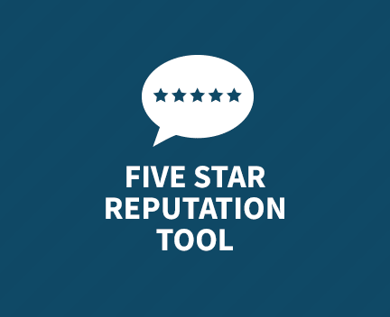 Five Star Reputation Tool. Data Analytics for Healthcare professionals.
