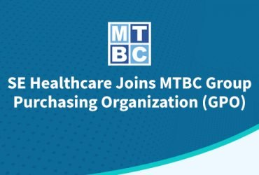 Graphic showing partnership between SE Healthcare and MTBC Group Purchasing Organization (GPO)